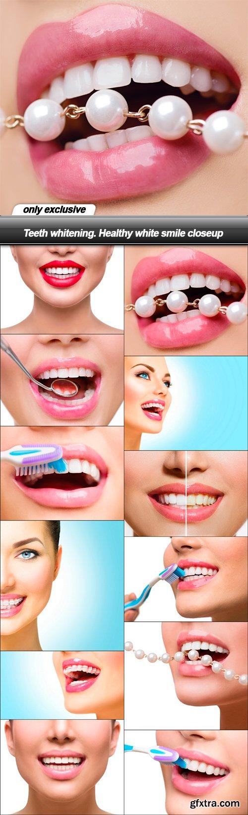 Teeth whitening. Healthy white smile closeup - 12 UHQ JPEG