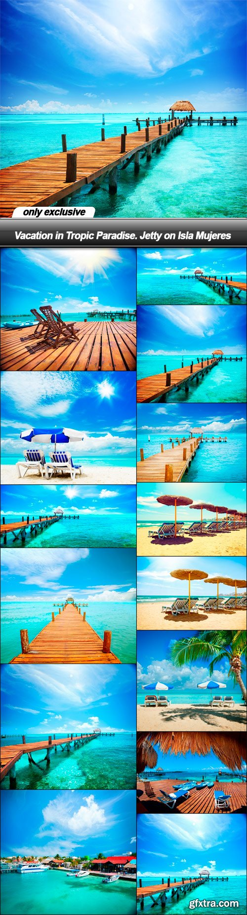 Vacation in Tropic Paradise. Jetty on Isla Mujeres - 14 UHQ JPEG