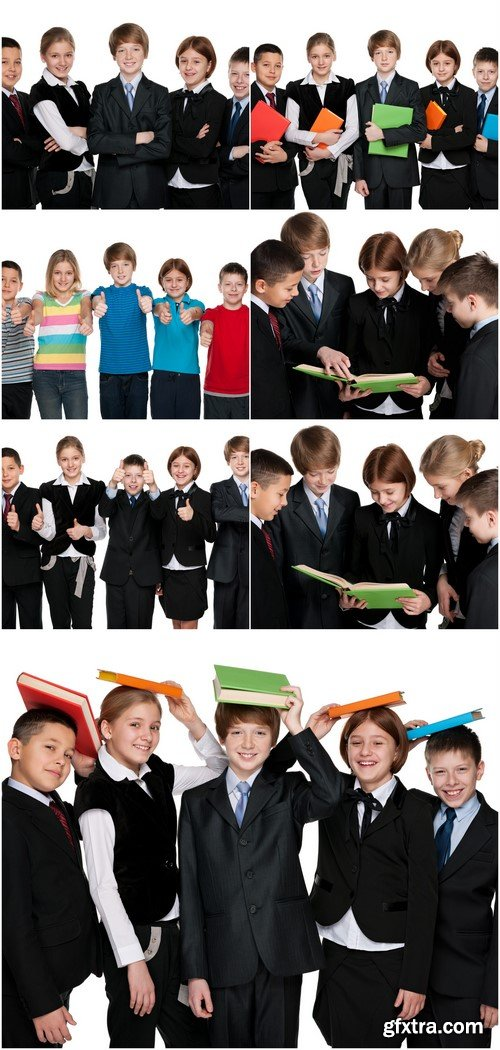 Group of happy students with books 7X JPEG