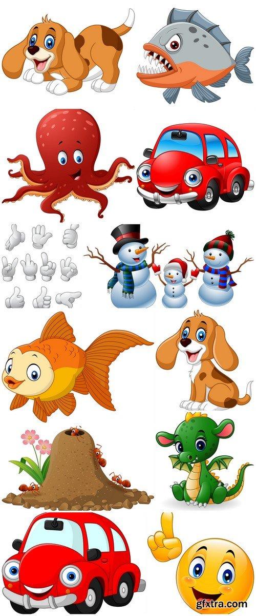 Cartoon character vector illustration 12X EPS