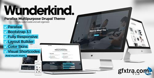 ThemeForest - Wunderkind v1.3 - One Page Parallax Drupal 7 Theme - 7864554
