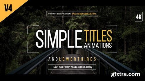 Videohive 30 Simple Titles V4 14507047