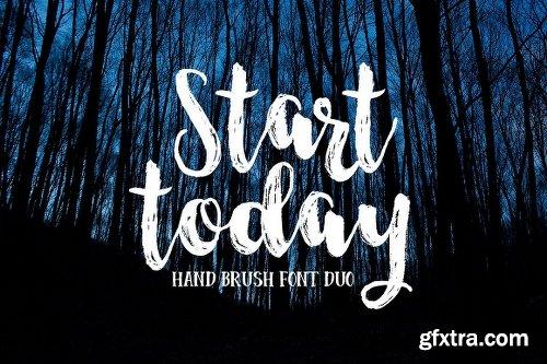 CreativeMarket Start Today - Brush Font Duo 1112443