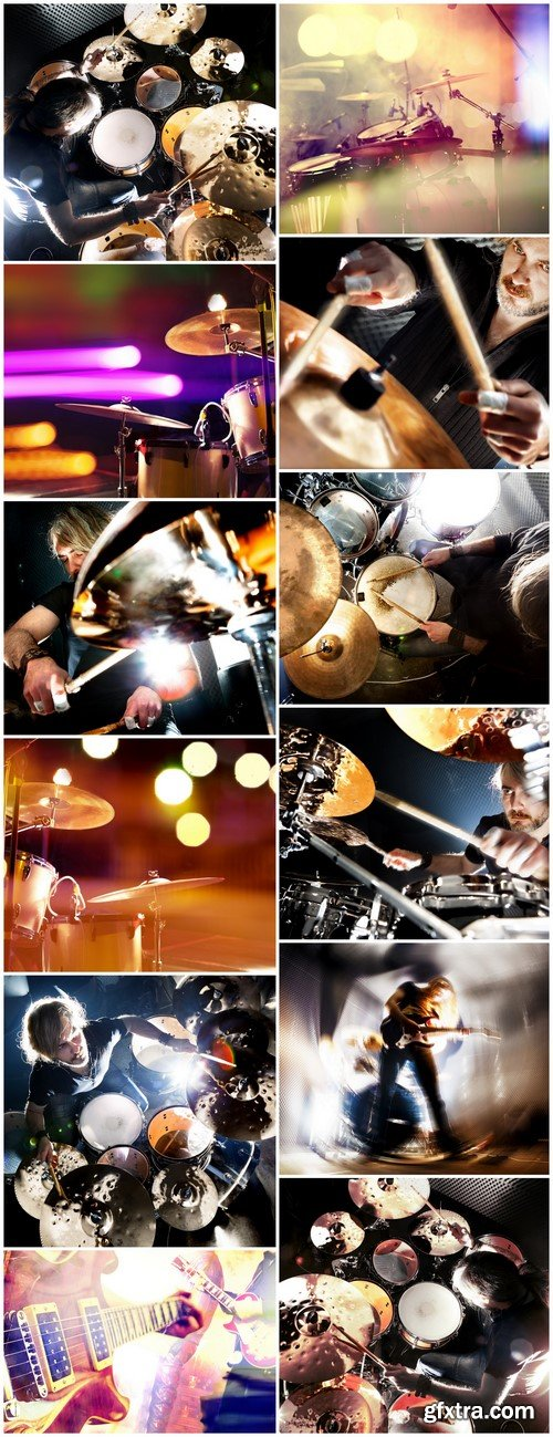 Man playing the drum Live music background concept 12X JPEG