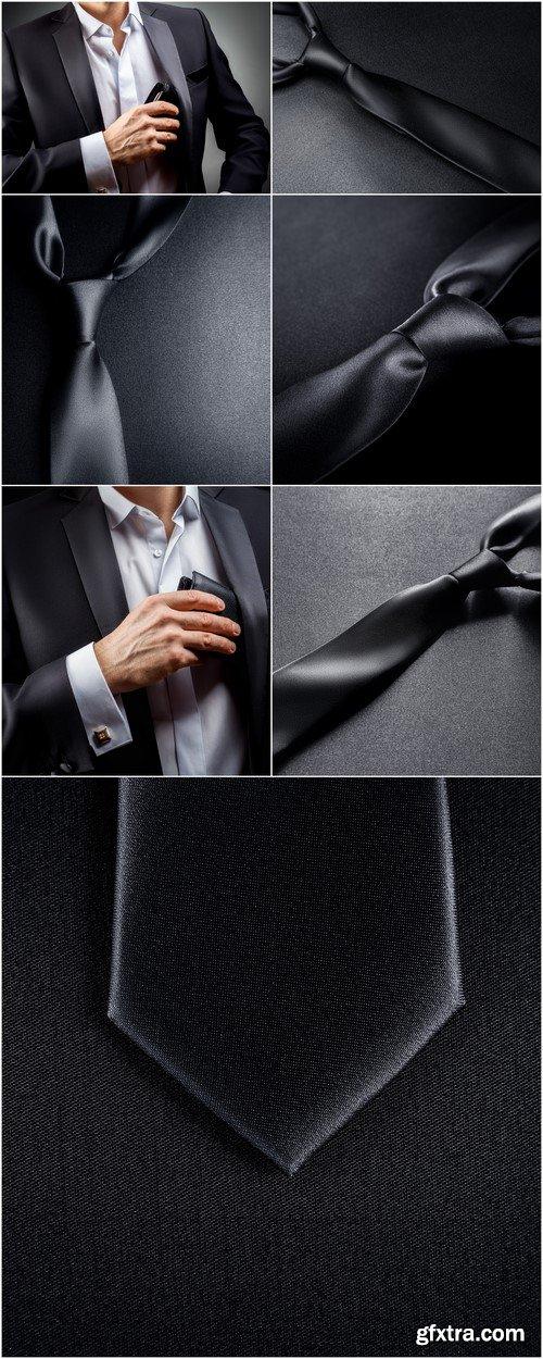 Black tie on a black background 7X JPEG