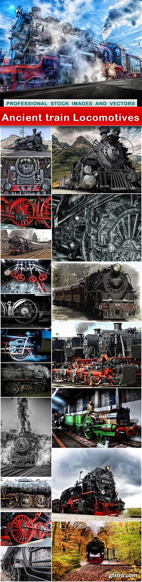 Ancient train Locomotives - 21 UHQ JPEG
