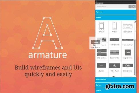 Armature - Drag-n-Drop wireframing for Adobe Illustrator