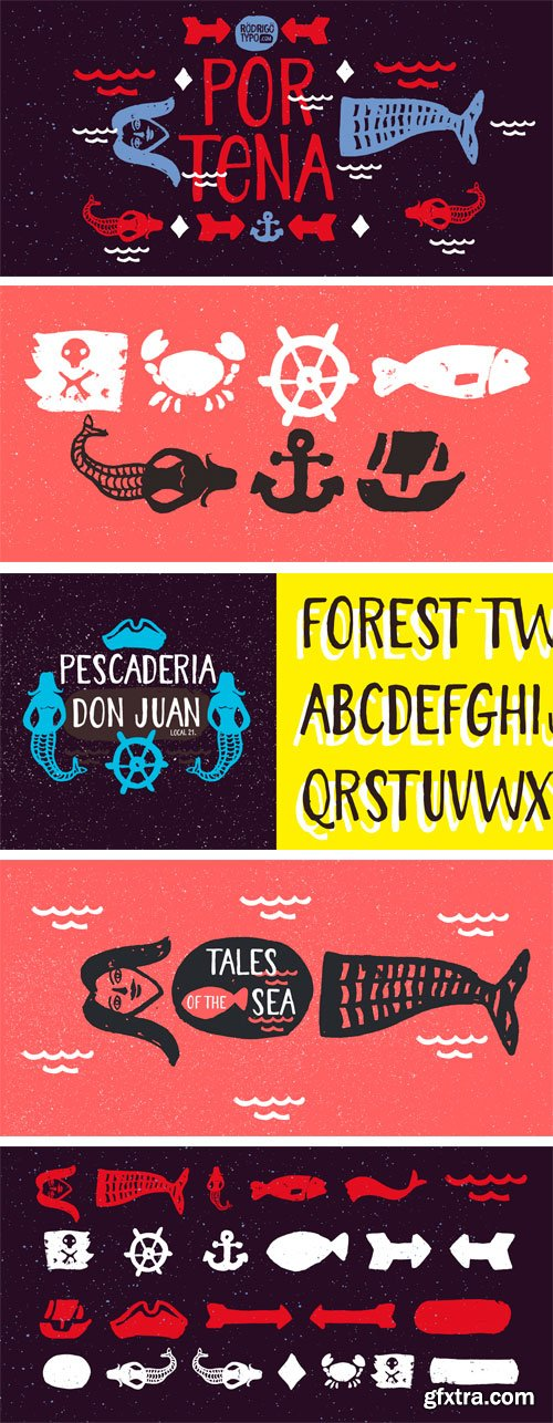 Portena Font Family