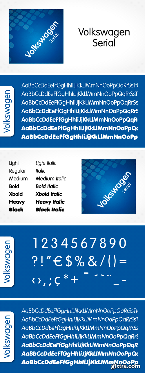 Volkswagen Serial Font Family