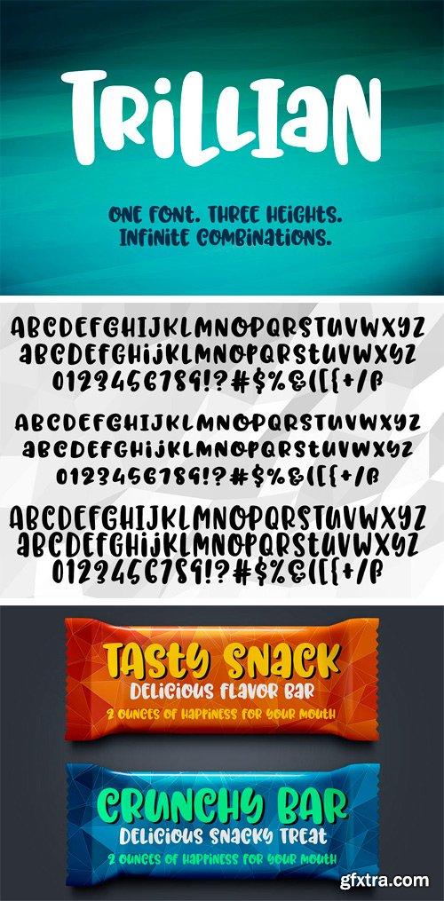 CM - Trillian: 1 fun font, 3 heights! 1696785