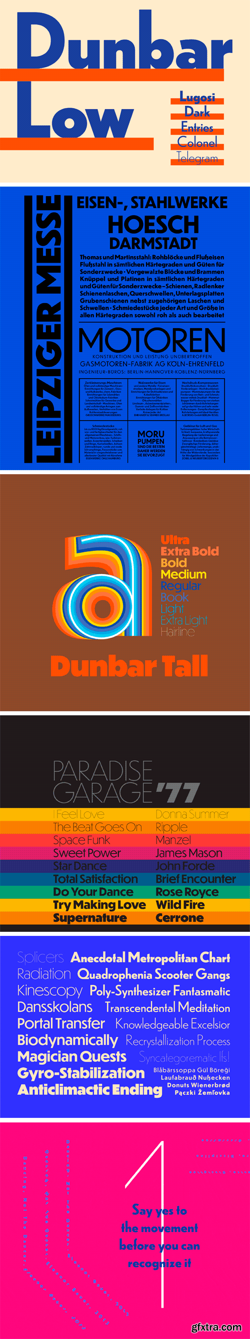 Dunbar Font Family