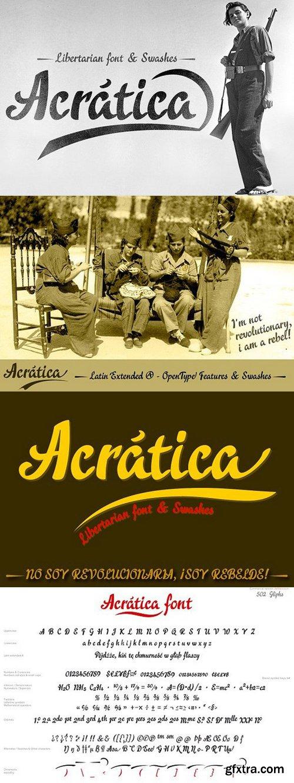 CM - Acratica font Script Font 1654607