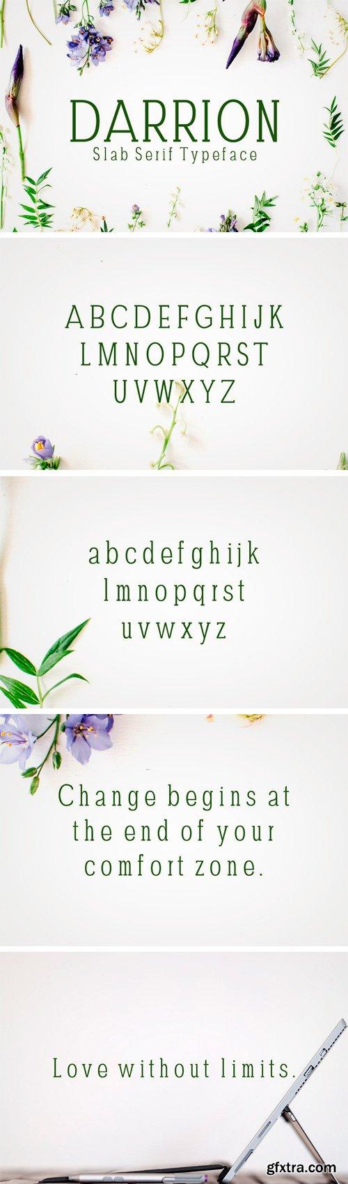 CM - Darrion Slab Serif Typeface 1696238