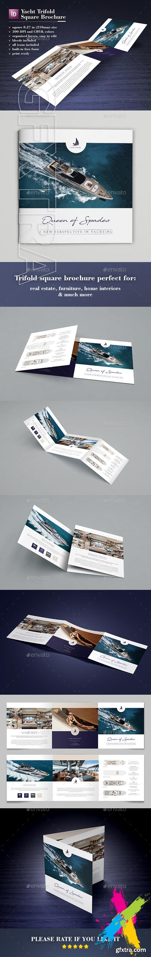 GraphicRiver - Yacht Trifold Square Brochure 20405848