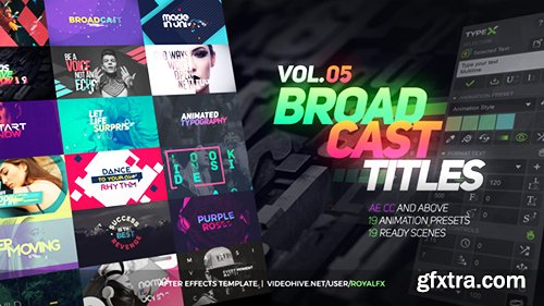Videohive TypeX - Text Animation Tool | VOL.05: Broadcast Titles Pack 20233979