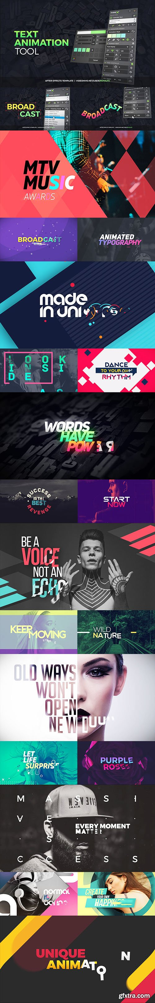 Videohive TypeX - Text Animation Tool   VOL.05: Broadcast Titles Pack 20233979