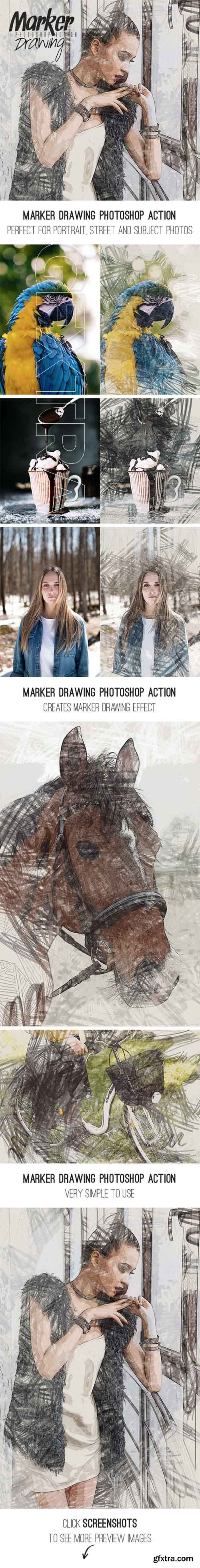 GraphicRiver - Marker Drawing Photoshop Action 20377468