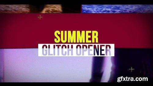 Videohive Summer Glitch Opener 19865837