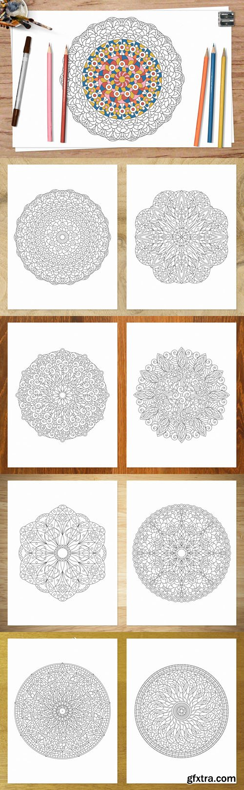 Adult Coloring Pages [AI/PDF]