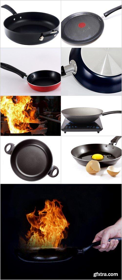 Frying pans 9X JPEG
