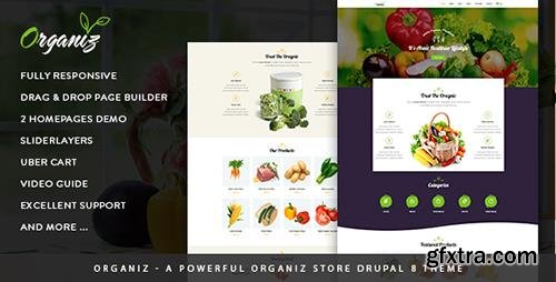ThemeForest - Organiz v1.0 - A Powerful Organiz Store Drupal 8 Theme - 20313207