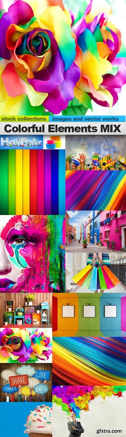 Colorful Elements MIX, 15 x UHQ JPEG