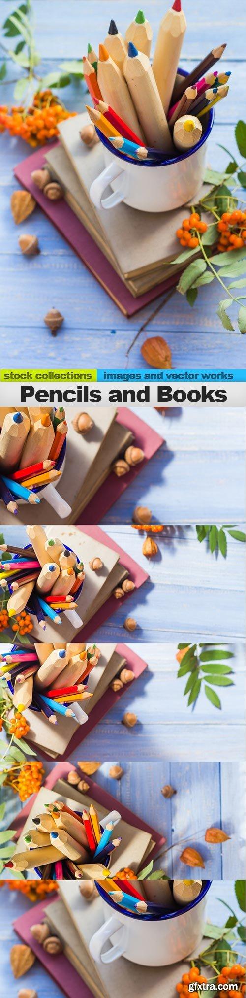Pencils and Books, 05 x UHQ JPEG