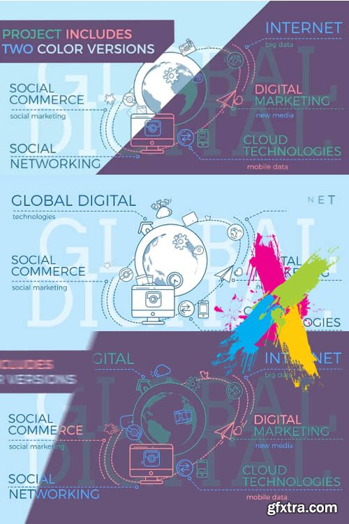 Global Digital World Infographic - After Effects