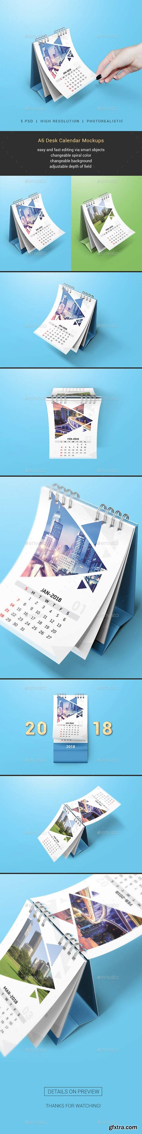 Graphicriver - Desk Calendar Mockups 20516927