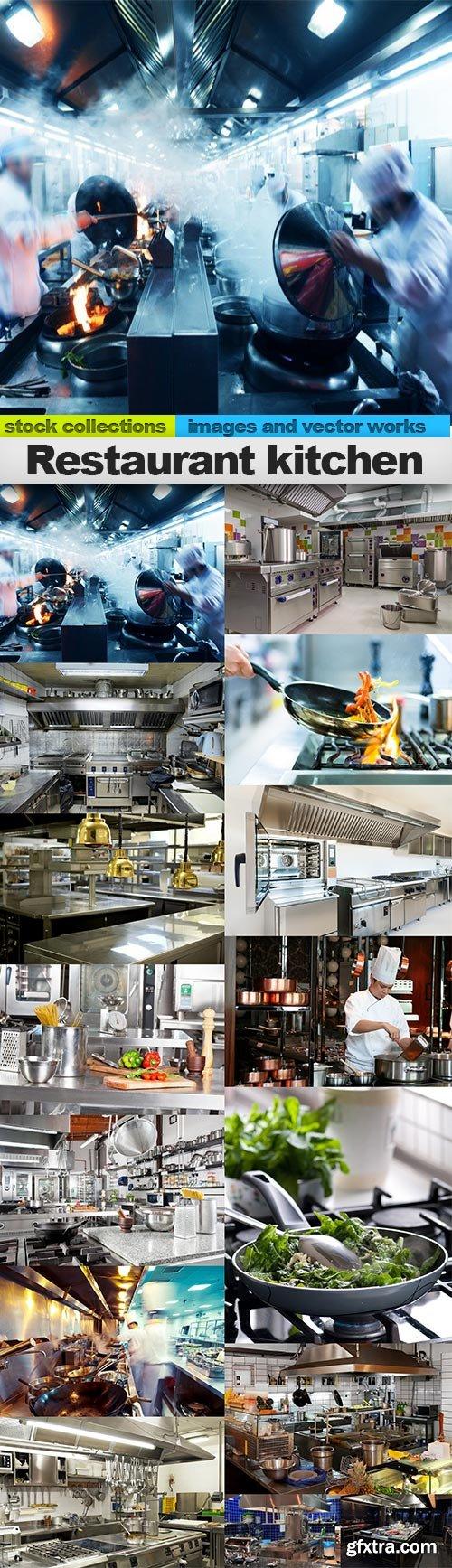Restaurant kitchen, 15 x UHQ JPEG