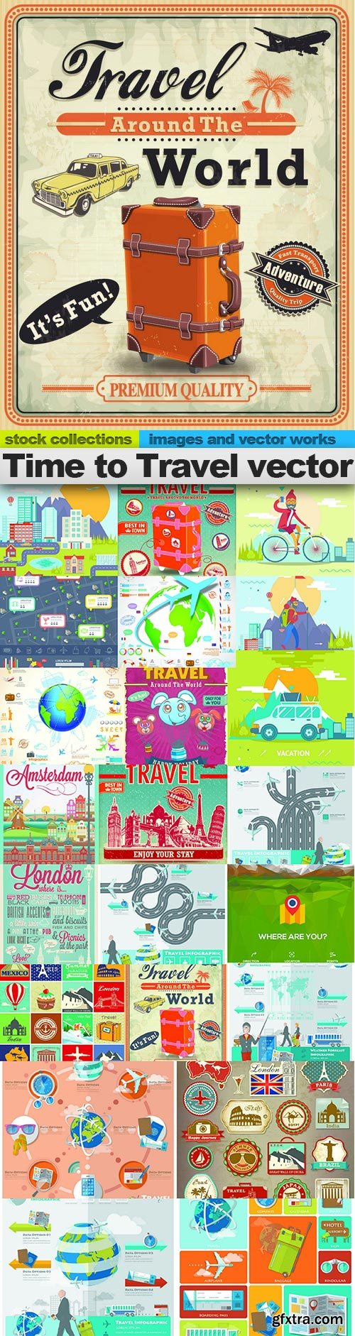 Time to Travel vector, 24 x EPS