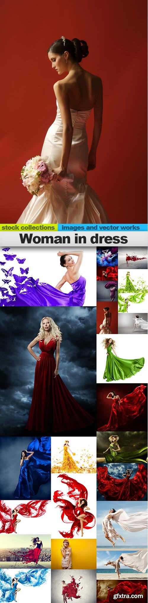 Woman in dress, 25 x UHQ JPEG