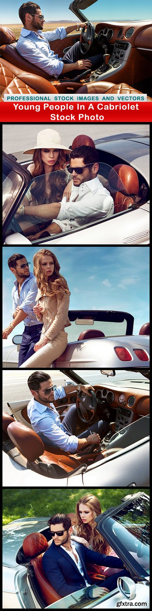 Young People In A Cabriolet Stock Photo - 5 UHQ JPEG