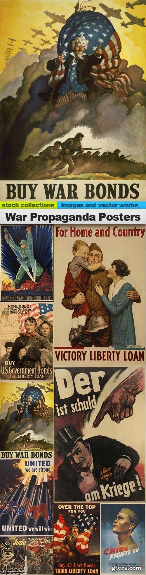 War Propaganda Posters, 10 x UHQ JPEG