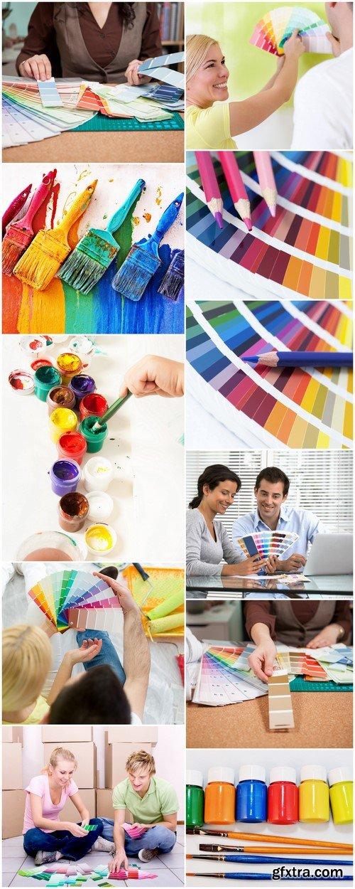 Palette of paints Idea for repair