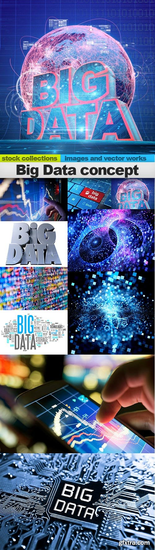 Big Data concept, 10 x UHQ JPEG
