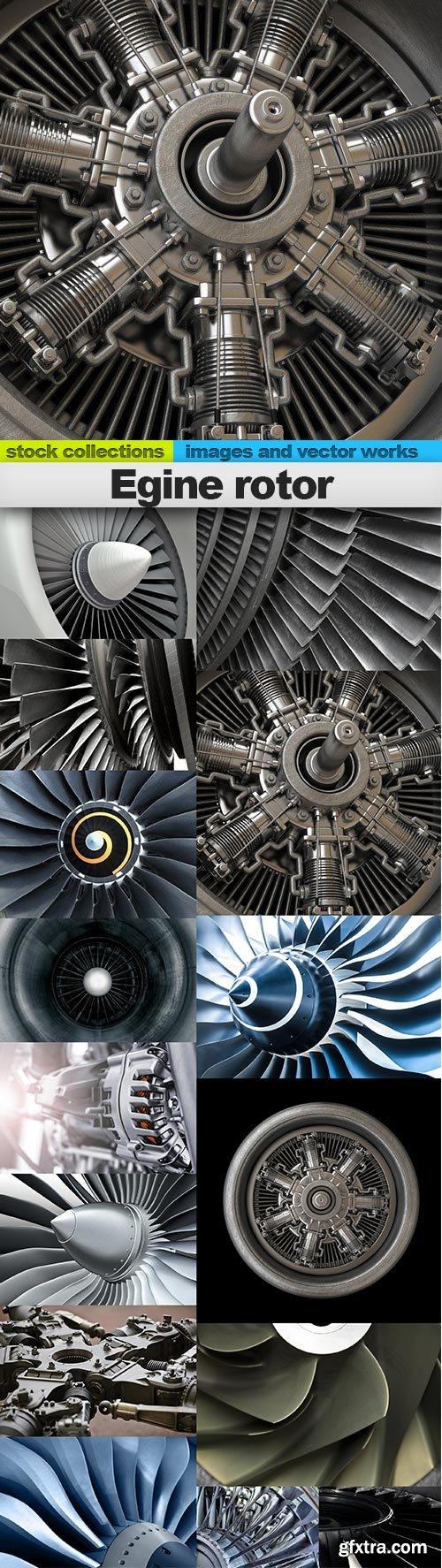 Egine rotor, 15 x UHQ JPEG