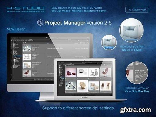 3d-kstudio Project Manager v2.60.27 for 3ds Max 2010 - 2017