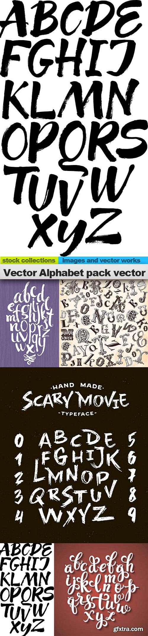 Vector Alphabet pack vector, 05 x EPS