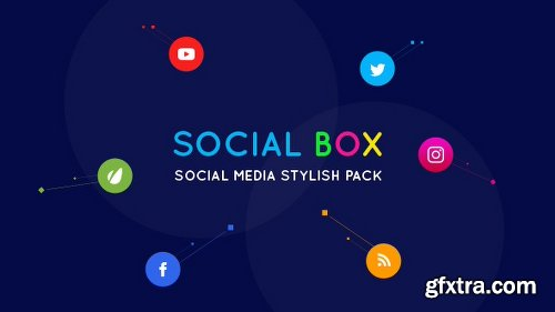 Videohive SocialBox - Social Media Intro and Outro for Social Media Links Promotion 20534548