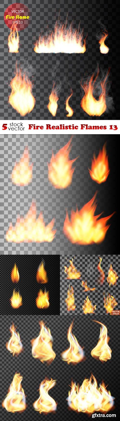 Vectors - Fire Realistic Flames 13