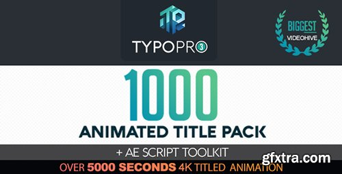 Videohive Typopro | Typography Pack - Title Animation - Kinetic - Minimal - Vintage 20448499
