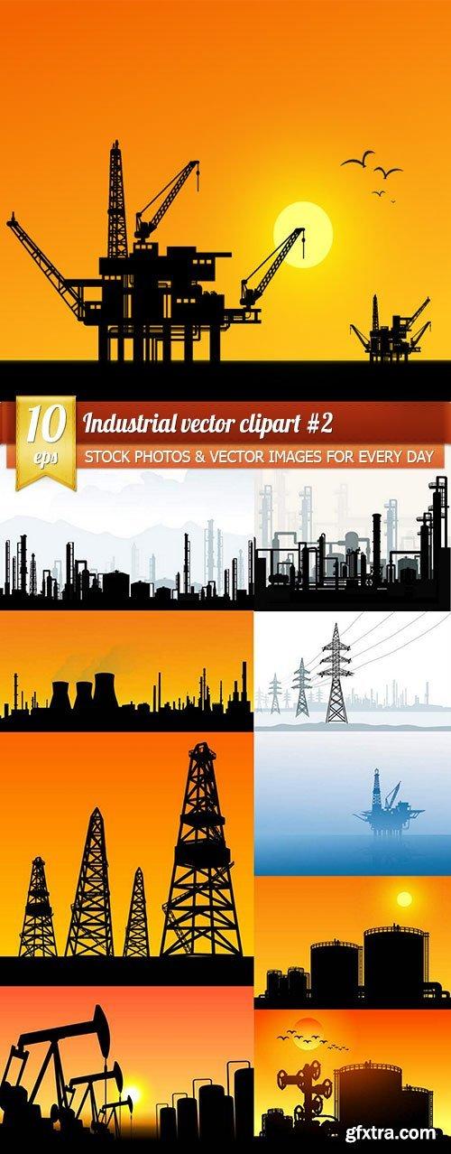 Industrial vector clipart #2, 10 x EPS