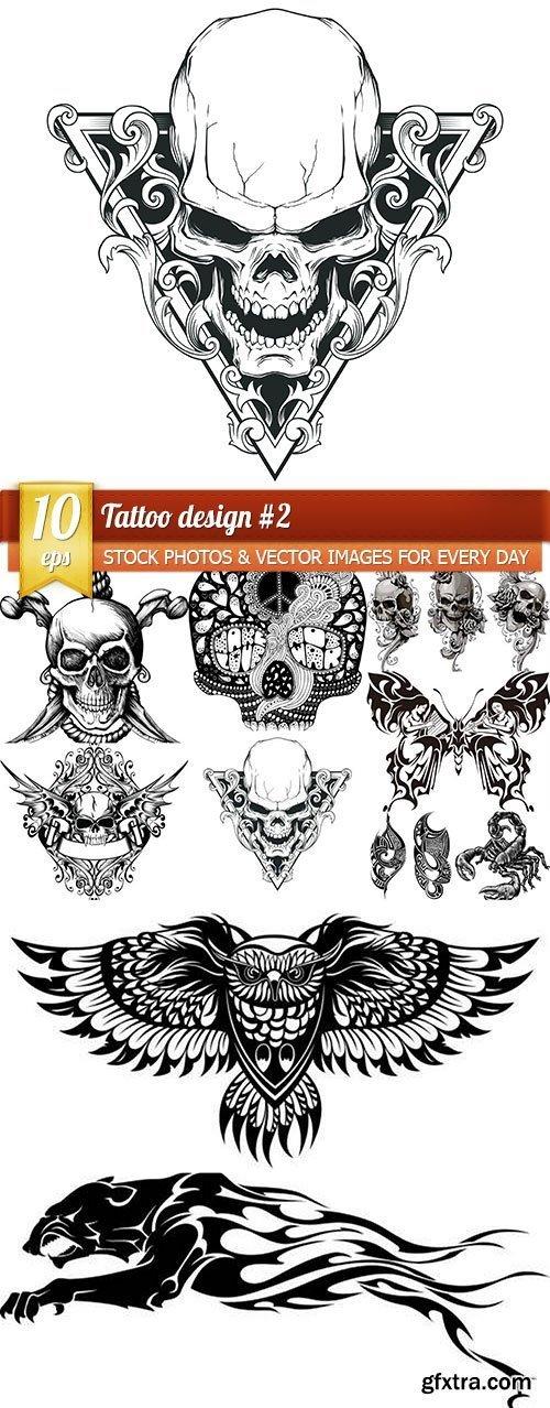 Tattoo design #2, 10 x EPS