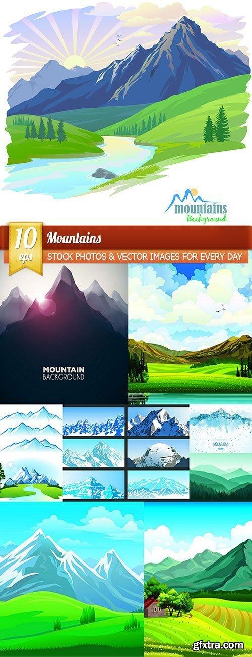 Mountains, 10 x EPS