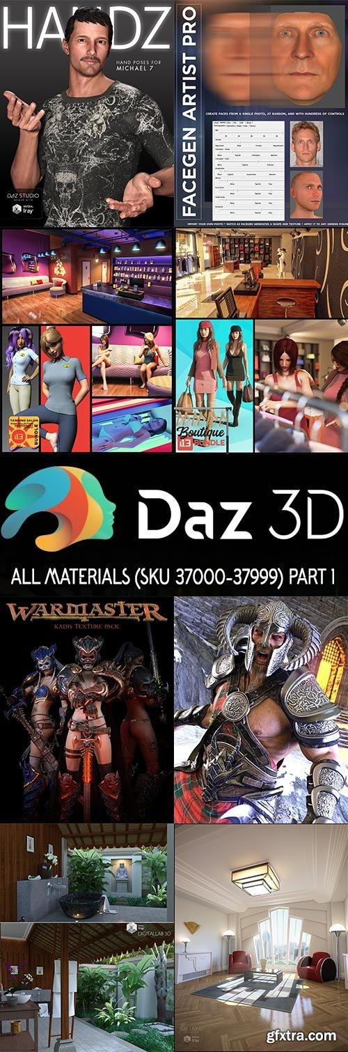 DAZ3D - All Materials - SKU 37000-37999 - Part 1