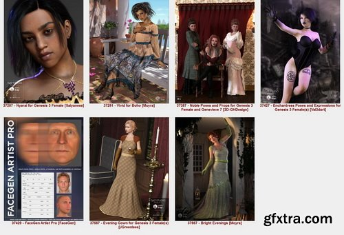 DAZ3D - All Materials - SKU 37000-37999 - Part 1