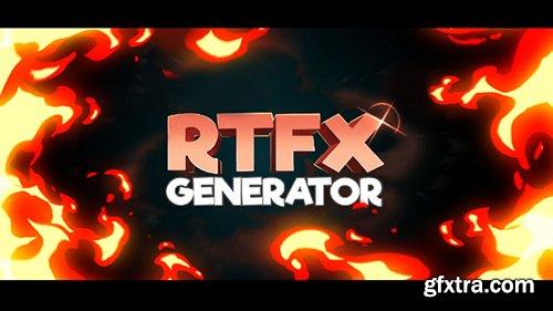Videohive RTFX Generator + 510 FX pack 19563523