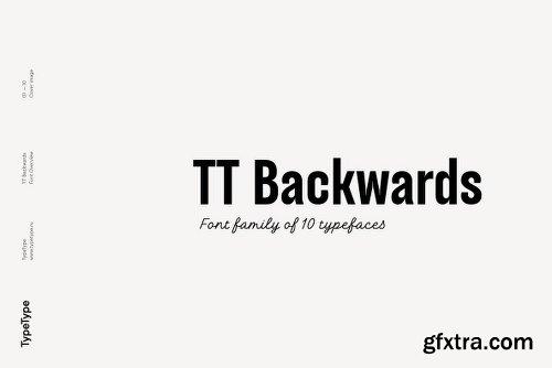 TT Backwards Font Family - 10 Fonts