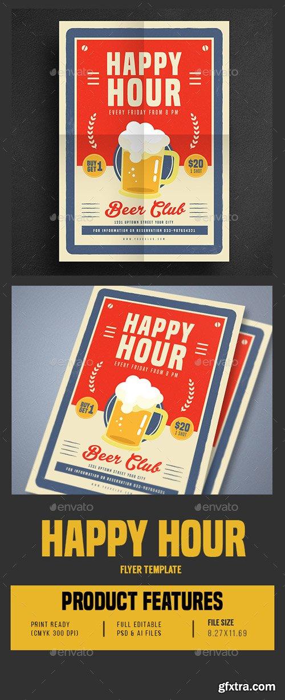 GR - Retro Old Vintage Happy Hour Beer Promotion 16638604